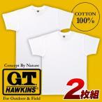 紳士/メンズ GTホーキンス 無地2枚組Tシャツ M〜LL グンゼ GUNZE 【1点までゆうパケット可能】 サンキ/sanki