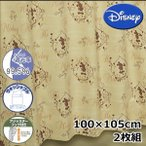 (メーカー取り寄せ品)Disney/ディズニー 遮光カーテン カントリーミッキー 2枚組 100×105cm 【ゆうパケット不可】 サンキ/sanki