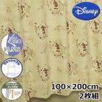 (メーカー取り寄せ品)Disney/ディズニー 遮光カーテン カントリーミッキー 2枚組 100×200cm 【ゆうパケット不可】 サンキ/sanki