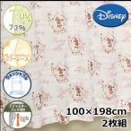 (メーカー取り寄せ品)Disney/ディズニー レースカーテン カントリーミッキーレース 2枚組 100×198cm UVカット【ゆうパケット不可】 サンキ/sanki