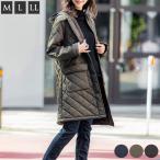 裏ボアフリース キルティングコート レディース あったか ロングコート キルティングジャケット 中綿 ベンチコート キルトジャケット 大きいサイズ