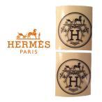 【非売品】 HERMES エルメス ロゴマーク シール ステッカーセット 丸型 2枚SET