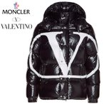 MONCLER モンクレール VALENTINO ヴァレンティノ コラボ Vロゴ ダウンジャケット メンズ ブラック 2019-2020年秋冬 2019AW