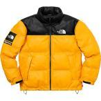 Supreme シュプリーム 2017-18年秋冬 The North Face Leather Nuptse Jacket ノースフェイス イエロー ロゴ
