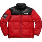 Supreme シュプリーム 2017-18年秋冬 The North Face Leather Nuptse Jacket ノースフェイス レッド ロゴ