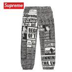 Supreme シュプリーム Newsprint Skate Pant パンツ ボトムス ホワイト 2018-19年秋冬