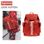 LOUIS VUITTON×Supreme ルイ・ヴィトン シュプリーム コラボ ロゴ リュック バッグ レッド