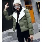 軽量レディースコート ジャケット ショート丈 アウター フード有り 中綿 長袖 防寒 通勤 秋