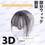 ウィッグ 部分 前髪 ヘアピース 3D構造 女性 人毛 ウイッグ 付け毛 脱毛隠し 軽薄 白髪隠れ 増毛 自然色ダークブラウン 20cm