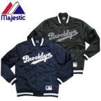 セール価格 Majestic マジェスティック Brooklyn Dodgers ナイロンスタジャン サテンブルゾン メジャーリーグ