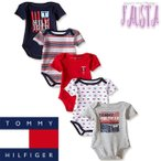 ベビー服 70 Tommy Hilfiger トミーヒルフィガー 半袖ロンパースセット ボディスーツ 赤ちゃん 肌着 B007