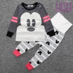 ベビー服 90 80 パジャマ 腹巻き付き ミッキー ディズニー風 長袖セットアップ 男の子 女の子 R071