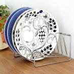 家事問屋 ディッシュスタンド 18 ステンレス 皿立て 食器立て ディッシュラック お皿 収納 18〜24cm 6枚 日本製 41644