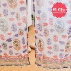 ニューラメゾウさん のれん 85×150cm インド綿100% 2色 ブルー レッド プリントのれん 暖簾 アジアン エスニック 雑貨 インテリア