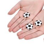 ミニサイズのオリジナルサッカーボール缶バッチ 1個