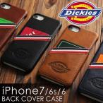 iPhone 7 6s 6 スマホケース Dickies ディッキーズ PUレザー スマホカバー 背面ケース ブランド カード アイフォン アイホン iPhone8