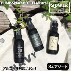 スプレーボトル ホルダー 遮光 おしゃれ 携帯 アルコール 対応 プッシュ カバー 50ml SLOWER スロウワー ポイント消化