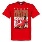 【30%OFF】RE-TAKE(リテイク) スティーブン・ジェラード リバプール Legend Tシャツ ジュニア(レッド×ゴールド)【サッカー サポーター グッズ Tシャツ】