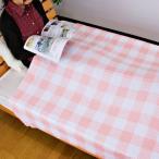 タオルケット チェック柄 プリント コットン100%パイル プリントの発色がきれいな、カジュアルなデザインのタオルケットです。 214DK9