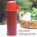aladdin レッドチェック ヘリテイジボトル(保温 保冷 アラジン ステンレス 魔法瓶 水筒 チェック柄 復刻版)