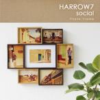 HARROW7・ハロウ7 SOCIAL フォトフレーム(magnet マグネット 写真立て ナチュラル 木製 ウッド 大きい)