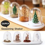 QUALY Seasoning Shaker・クオリー シーズニングシェイカー(調味料入れ シーズニングケース スパイス キッチン雑貨 アニマル)