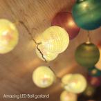 アメイジングLEDボールガーランド(クリスマス 飾り 電飾 ツリー)