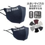 大きいマスク お得用 大きなマスク 大きめマスク 大きいサイズ 洗える 特大サイズ 2L 大きいサイズ 春先用 中厚手生地 耳が痛くない  6枚入り フィルター付き