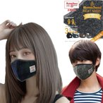 ハリスツイードマスク Harris Tweed ヒートマスク おしゃれマスク 冬用マスク あったか温感 蒸れない 息がしやすい 洗えるマスク 個別包装 耳紐アジャスタ付 1枚