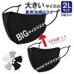 夏用 大きなマスク 大きいサイズの冷感マスク 冷感マスク 接触冷感スポーツマスク  耳が痛くならない 5枚入り 個別包装 大人用 送料無料 高性能フィルター付き