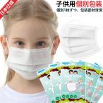 [6%OFFセール中] マスク 子供用 飛沫防 日本仕様 個別包装 国内発送 マスク 在庫あり 10枚 使い捨て 3層構造 ホワイト UVカット 小さめ 女性