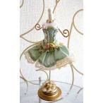 【入荷しました】バレエ雑貨 チュチュトルソー ジュエリースタンド S Greenグリーン 森の女王 バレエ 発表会 プレゼント お返し
