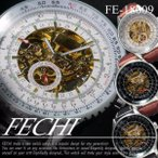 自動巻スケルトンタイプ腕時計メンズウォッチ/ケース付き