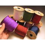 クラフト素材・念珠・数珠の作成・補修にも 全10色 組み紐 太さ約1mm 全長約230メートル巻き