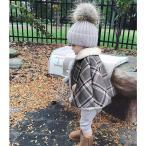 マントポンチョ着ケープ子供コートキッズアウターキッズマント冬ベビー・キッズ・ジュニア・女の子・子供ポンチョ着る毛布防寒フード付きボア保温