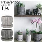 植木鉢 おしゃれ 室内 室外 シック 塊根植物 コーデックス 蘭 トラヴァイエポットB-L