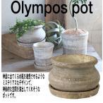 植木鉢 おしゃれ 室内 鉢カバー 底穴あり 受皿付 SPICE オリンポス ポット