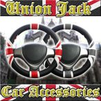ハンドルカバー ユニオンジャック ハンドルカバー レッド グレー UNION JACK Sサイズ36.5〜37.9cm イギリス国旗 雑貨 ミニ MINI ローバー