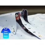 かりゆしウェア結婚式に アロハシャツ 沖縄 メンズ ボタンダウン 半袖 クールビズ ワイシャツ 紅型 白×青 ブルー チェック パッチワーク (msck-bu02-4817)