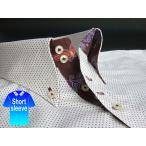 かりゆしウェア結婚式に アロハシャツ 沖縄 メンズ ボタンダウン 半袖 クールビズ Yシャツ ワイシャツ 紅型 白×赤×紺 ホワイト ドット (msdt-wt01-0917)