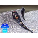 かりゆしウェア結婚式に アロハシャツ 沖縄 メンズ ボタンダウン 半袖 クールビズ Yシャツ ワイシャツ 花柄 紺 ネイビー 花柄 (msfl-nv01-0017)
