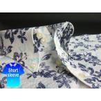 かりゆしウェア結婚式に アロハシャツ 沖縄 メンズ ボタンダウン 半袖 クールビズ ワイシャツ 白×紺 ホワイト ハイビスカス シアサッカー (mshi-wt02-0017)