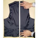【メンズスーツ】サイズ&デザイン情報入力画面(ベスト)