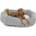 Majestic Pet マジェスティックペット ペットグッズ 犬用品 ベッド・マット・カバー ベッド Greek Keys Towers Sherpa Bagel Bolster Cat & Dog Bed