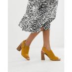 アルド ALDO レディース サンダル・ミュール シューズ・靴 Elalyan buckle heeled leather sandals in mustard Mustard
