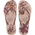 ハワイアナス Havaianas レディース ビーチサンダル シューズ・靴 Slim Organic Flip Flops Ballet Rose/Pink Retro Metallic