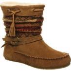 ベアパウ Bearpaw レディース ブーツ モカシン シューズ・靴 Cyan Moccasin Boot Hickory II Suede/Knit