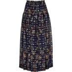 ���� Chloe ��ǥ����� �Ҥ��楹������ �������� Printed Silk-Chiffon Midi Skirt Blue