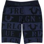 トゥルー レリジョン True Religion メンズ ショートパンツ ボトムス・パンツ Navy Logo Cotton-Blend Shorts Blue