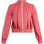 ヴァレンティノ レディース ジャージ アウター High-neck zip-through jersey track top Flamingo-pink
